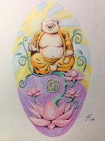 Buddha Tattoo Cover up Design by coyote117