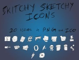 Skitchy Sketchy Icon Set by Overtone