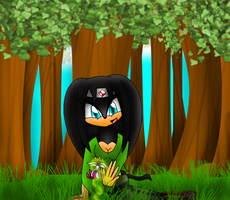 Forest healing a flower by Kathy-the-echidna