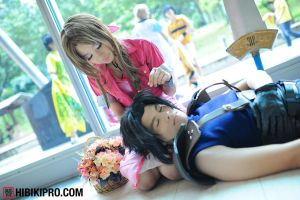 Zack Fair and Aerith Gainsborough by arthur1042
