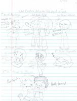 First day of 12th grade doodle dump by KirbyFangirl