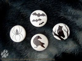 Creepy Critter Pinback Buttons by Nightlyre