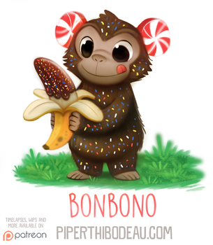 Daily Paint 1589. Bonbono by Cryptid-Creations