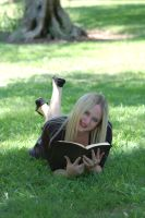 Girl and book2 by oxygun