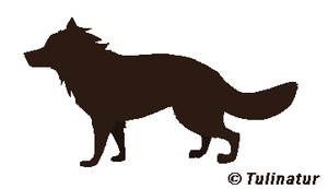 Canine silhouette by Tulinatur
