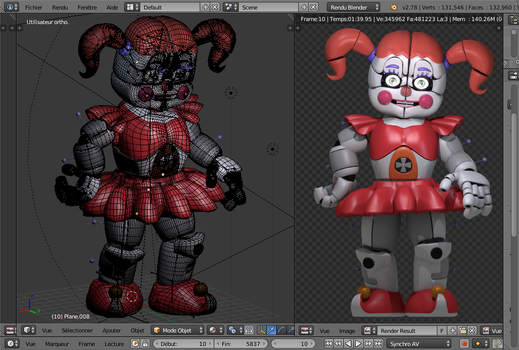 Circus Baby pose by laulauBlender