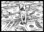 dollar-hound by tattoedbeatmessiah