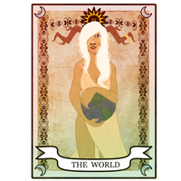 Noel Tarot Card Meme- The World by rayne-storme