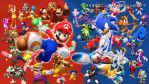 Mario and Sonic at the Rio Olympic Games by earthbouds