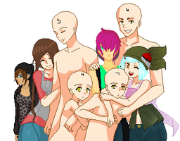 Collaboration: Pokemon Family ( 8D Full!) by Anony-Mus