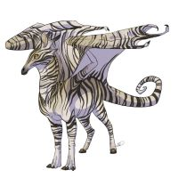 Zebra Dragon by theCoffeeDragon