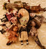 Doll Pile by Woodedwoods