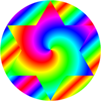 hexagram circle fit by 10binary