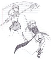 Maka sketches by Jazzie560