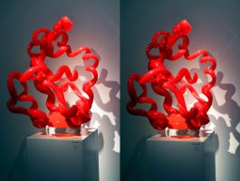 Chihuli's Inner Mounting Flame In Halcyon Gallery by aegiandyad