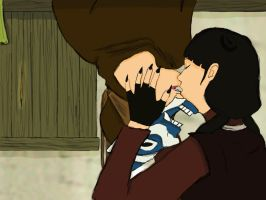 Zuko and Mai Spiderman kiss by Cricky-Vines