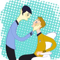 Kirk and Spock by spicysteweddemon