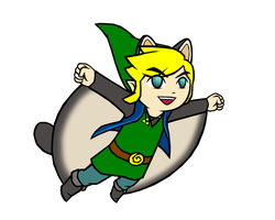 Commission - Flying Squirrel Link Albane by swordxdolphin