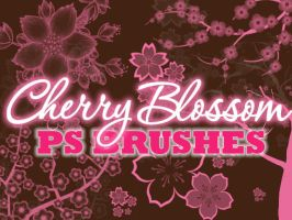 Cherry Blossom Photoshop Brushes by petermarge