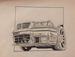 Car drawing by iamIvand
