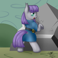 Maud Pie - Rock Punching by extreme-sonic