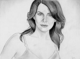 Lauren Graham as Lorelai Gilmore (Graphite sketch) by julesrizz