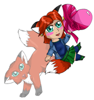 Catie Fox Chibi by 4got10memory