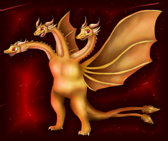 King Ghidorah by PlagueDogs123