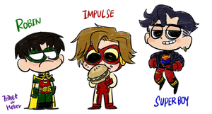 Young Justice Trio by 773HER