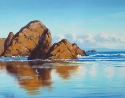 Oregon Beach by artsaus