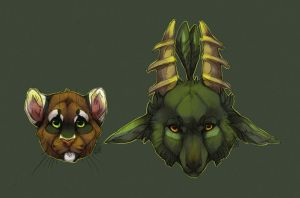 Takoda and Afredima Headshots by Kium