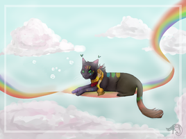 Laying on rainbows by oOBouncingheartOo