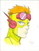 Young Justice: Kid Flash (Colored) by Oniarisawa12