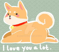 Shibe love by kagepoopoo