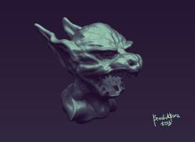My First 3D Model Creature Maquette by benedickbana
