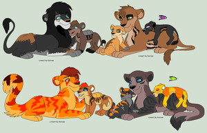 Lion Families Adoptables CLOSED by XxSoaringHeartxX