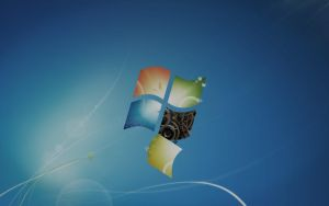 (Badly) Aged Windows 7 default wallpaper by Derpy-Sheen