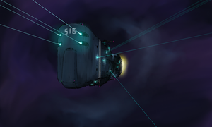 UN space battleship Oslabia in action by Waffle0708