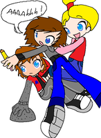 i'm being pushed into my bro by BillyBCreationz