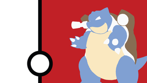 Blastoise Minimalist Wallpaper by Narflarg