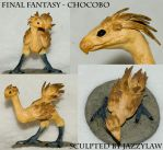 Chocobo Sculpture by Jassylaw