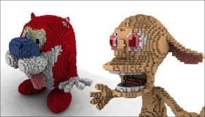Legolized Ren and Stimpy by todd587