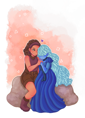 Ruby and Sapphire - Commish by Hanakow