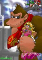 King Kong Steals Pr. Peach by chibipunk7231