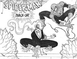 Spider-man and Black Cat by Soniafm1027
