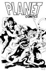 Planet Comics Cover By Newenglandsketcher (INKS) by frostdusk