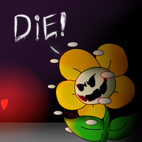 Meeting Flowey by BeccaGamer