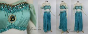 Jasmine Cosplay Costume in Mint by glimmerwood