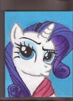 Rarity 6x10 inch acrylic on canvas portrait by Pwnyville