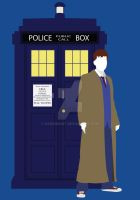 Ten and the TARDIS by HaddonArt